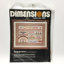 Dimensions Children are Precious Counted Cross Stitch Kit 3021 Sampler V... - $16.40