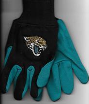 Jacksonville Jaguars team Sport Utility Gloves teal blk garden NFL Footb... - $17.77