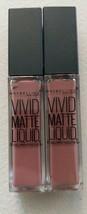 Two Maybelline Vivid Matte Liquid Lipstick 02 Grey Envy - $11.30