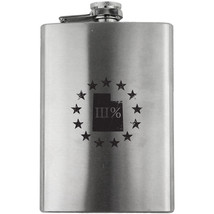 Original Utah State III Percenter Stainless Steel 8oz. Flask - $24.99
