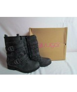 NIB Sugar Black Cable Sweater Warm Weather Boots Faux Fur Lined 8 M - $52.24