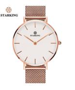 STARKING® Rose Gold Stainless Steel Bracelet Quartz Minimalist Women Watch - $51.28