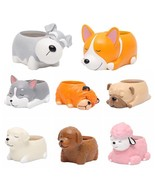 Flower Pot Cute Animal Puppy Dog Planter Succulents Resin Vase Desk Gard... - $9.99