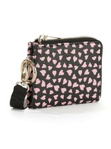 No Boundaries Ladies Lanyard Cardholder ID Holder Black W Hearts NEW - €10,81 EUR