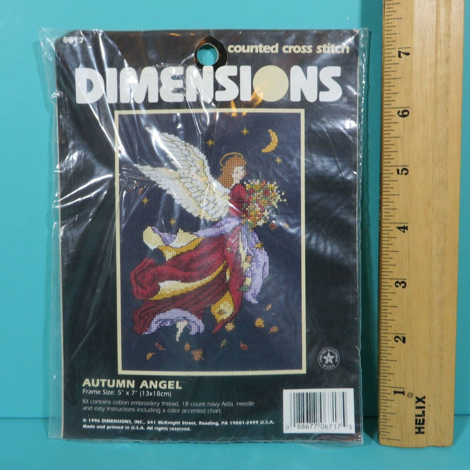 "Primary image for Dimensions Autumn Angel Counted Cross Stitch Kit 5"" x 7"" New Sealed #6717 1996"