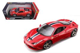 Ferrari 458 Speciale Red 1/18 Diecast Model Car by Bburago - $74.95