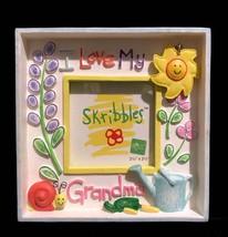 Russ Berrie Skribbles I Love My Grandma 2 1/2 inches x 2 1/2 inches Handpainted - $18.00