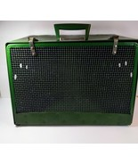 "ALCO Pet Carrier 1950's Green Ventilated 16'' wide 11""tall 8""deep vtg  - $44.55"