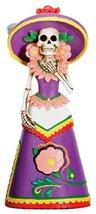 Dod Purple Senorita Mexican Traditional Skeleton Sculpture - £13.76 GBP