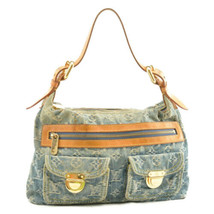 LOUIS VUITTON Monogram Denim Buggy PM Shoulder Bag M95049 LV Auth 10302 - £243.59 GBP