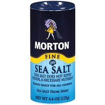 Morton Mediterranean Sea Salt, Fine, 4.4 oz Shaker - $11.78