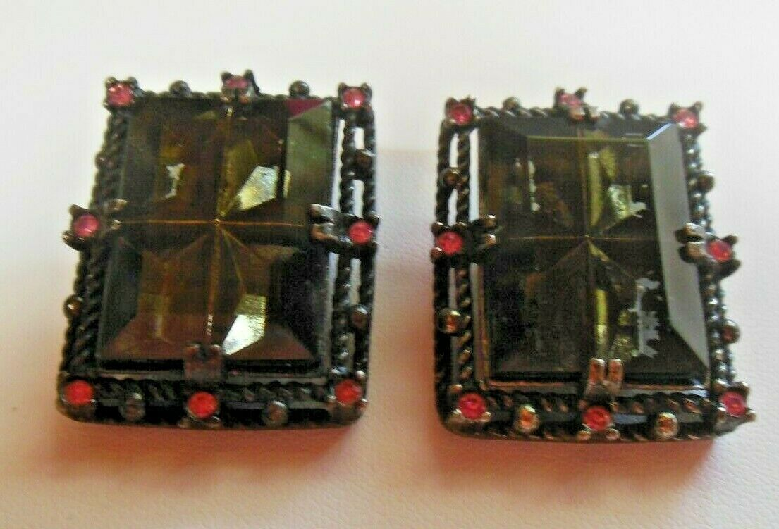 Primary image for Vintage Signed SARAH COVENTRY Midnight Magic Clip-on Earrings