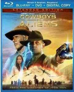 Cowboys & Aliens (Blu-ray/DVD, 2011, 2-Disc Set, Extended Edition; Rated/Unrated