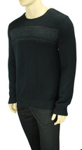 Calvin Klein Crew Neck Black Reflective Marled Stripe Pullover Sweater 2XL $98 - $29.99