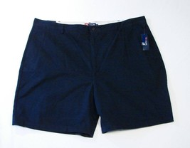 Chaps Flat Front Dark Blue Cotton Shorts NWT - $37.49