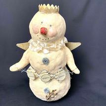 Vintage Snowman Dee Foust Making Spirits Bright Paper Mache  - $69.50