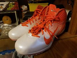 Nike Alpha football cleats orange and white sz 14.5 - $19.99