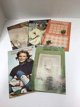 Needlework Crochet Coats & Clark Pattern Booklets Lot Of 5 - $8.66