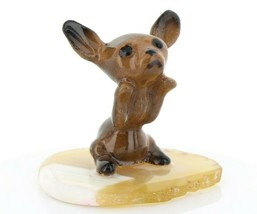 Hagen Renaker Miniature Dog Chihuahua Pup Begging on Base Stepping Stones #2742 image 1