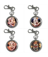 Circus Clowns Lot Of 4 Key Ring Chain Keychain Watches - $85.49