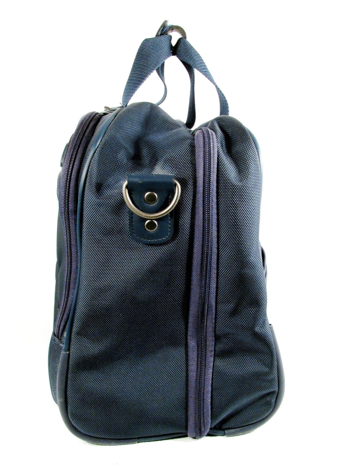 Samsonite Duffle Bag Overnight Travel Carry On Organizer Blue Nylon