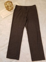 AGB Womens Dress Pants Brown Double Button Care... - $29.03