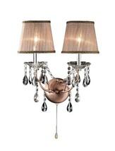 OK-5126s 17-Inch Rosie Crystal Wall Sconce Deer Antler Inspired Lamp - $123.49
