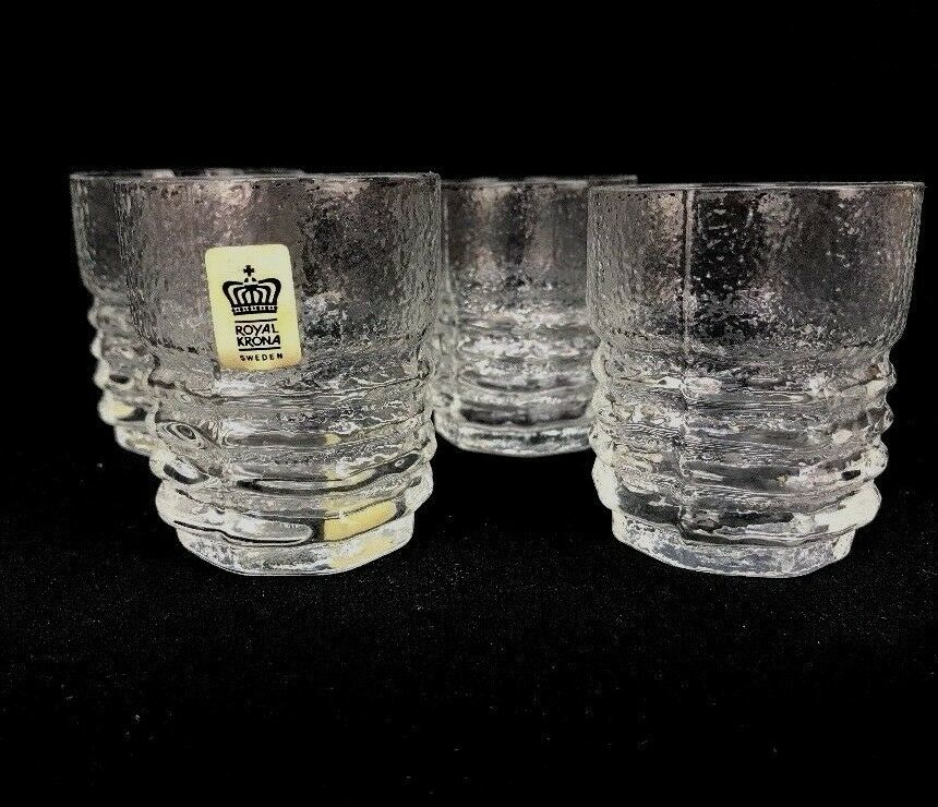 Primary image for Vtg Mid-Century Modern Royal Krona Sweden Scandinavian Juice Glasses Barware R1