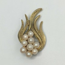 Vintage Faux Pearl Abstract Brooch - $14.85