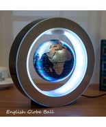 4.0 Inch Magnetic Levitation Floating Globe World Map w/LED Light Decora... - $32.77