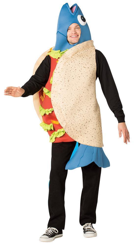 Fish Taco Adult Costume Pescatarian Men Women Food Halloween Unique GC6130
