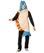 Fish Taco Adult Costume Pescatarian Men Women Food Halloween Unique GC6130 - $84.07 CAD