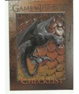 CHECKLIST GAME OF THRONES SEASON 3 2014 #97 - $2.02