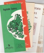 Vintage Food and Recipe Booklets LOT OF 6 Vegetables Cheese Sweet Potatoes - $5.93