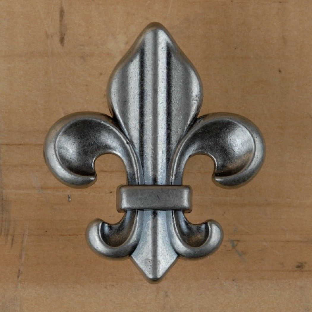 Fleur de lis Drawer Cabinet Knob Pull French Decor (4 different colors)