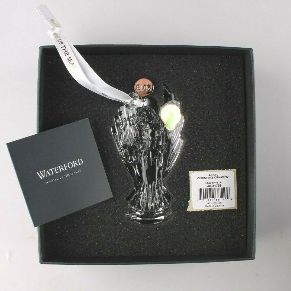 Waterford Crystal Holiday Angel 2018 Christmas Hanging Ornament 40031798 NIB