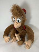 """VINTAGE Mattel 1992 Disney Aladdin ABU  PLUSH DOLL 16"""" Fez Vest Monkey - $18.99"""