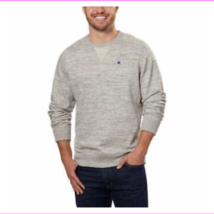 Champion Men's Textured French Terry Crew Sweatshirt Gray XL