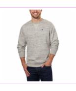 Champion Men's Textured French Terry Crew Sweatshirt Gray XL - $9.18