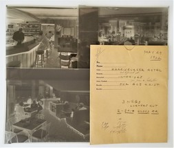 LOT 1962 vintage HOTEL HARRISBURGER inside 3 PHOTO NEGATIVES 8x10 harris... - $47.50