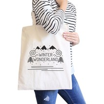 Winter Wonderland Natural Canvas Bags - $14.99