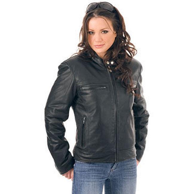 Winter Women Leather Motorcycle Women Genuine Leather Jacket Biker Jacket HL-183
