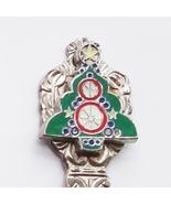 Collector Souvenir Spoon Christmas Tree Cloisonne Emblem - $2.99