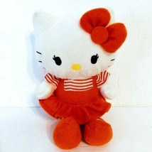 "Hello Kitty 5"" Orange Striped Dress Plush Doll TY Sanrio 2012 - $9.75"