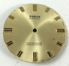 Vintage PORON Dial 21 JEWELS FROM OLD STOCK NEW DIAL, leg on 5 and 11 31... - $19.13