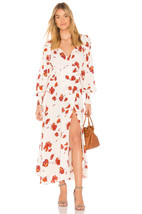 NWT FREE PEOPLE SO SWEETLY CREAM COMBO FLORAL PRINT MIDI DRESS S - $99.74