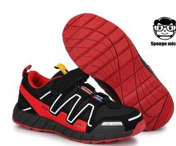 New red boys and girls sports shoes mesh breathable large children shoes... - $39.99