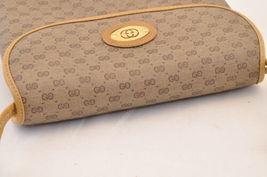 GUCCI GG Canvas Shoulder Bag Brown PVC Leather Auth sa1823 **Powder image 6