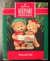 Hallmark Keepsake Christmas Ornament 1991 Mom And Dad at the Mail Box Boxed - $16.99
