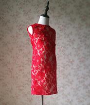 Pageant Red Lace Tutu High Waist Flower Girl Dress 2-Way Girl Birthday Dress NWT image 12